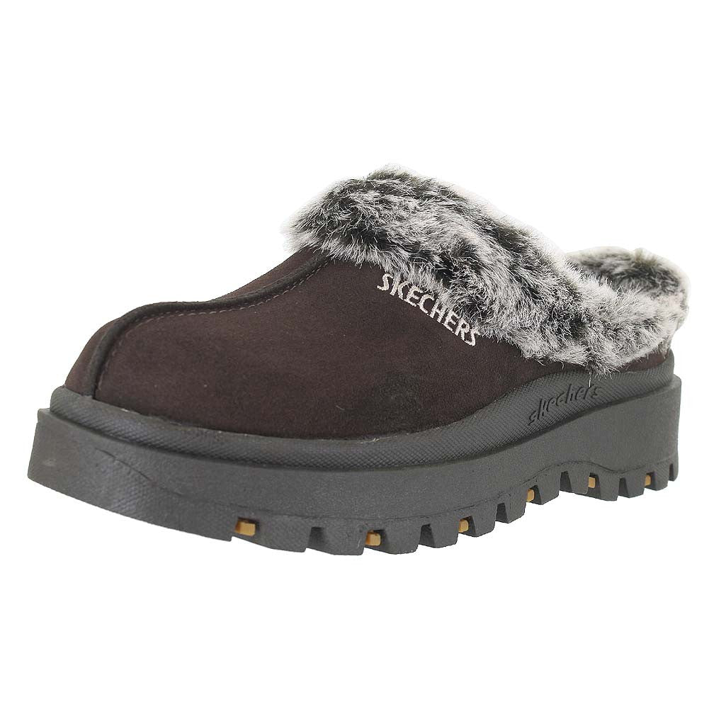 WOMENS SHINDIGS FORTRESS SLIPPERS CHOCOLATE