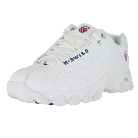 WOMENS ST329 CMF WHITE CLASSIC BLUE RIBBON RED