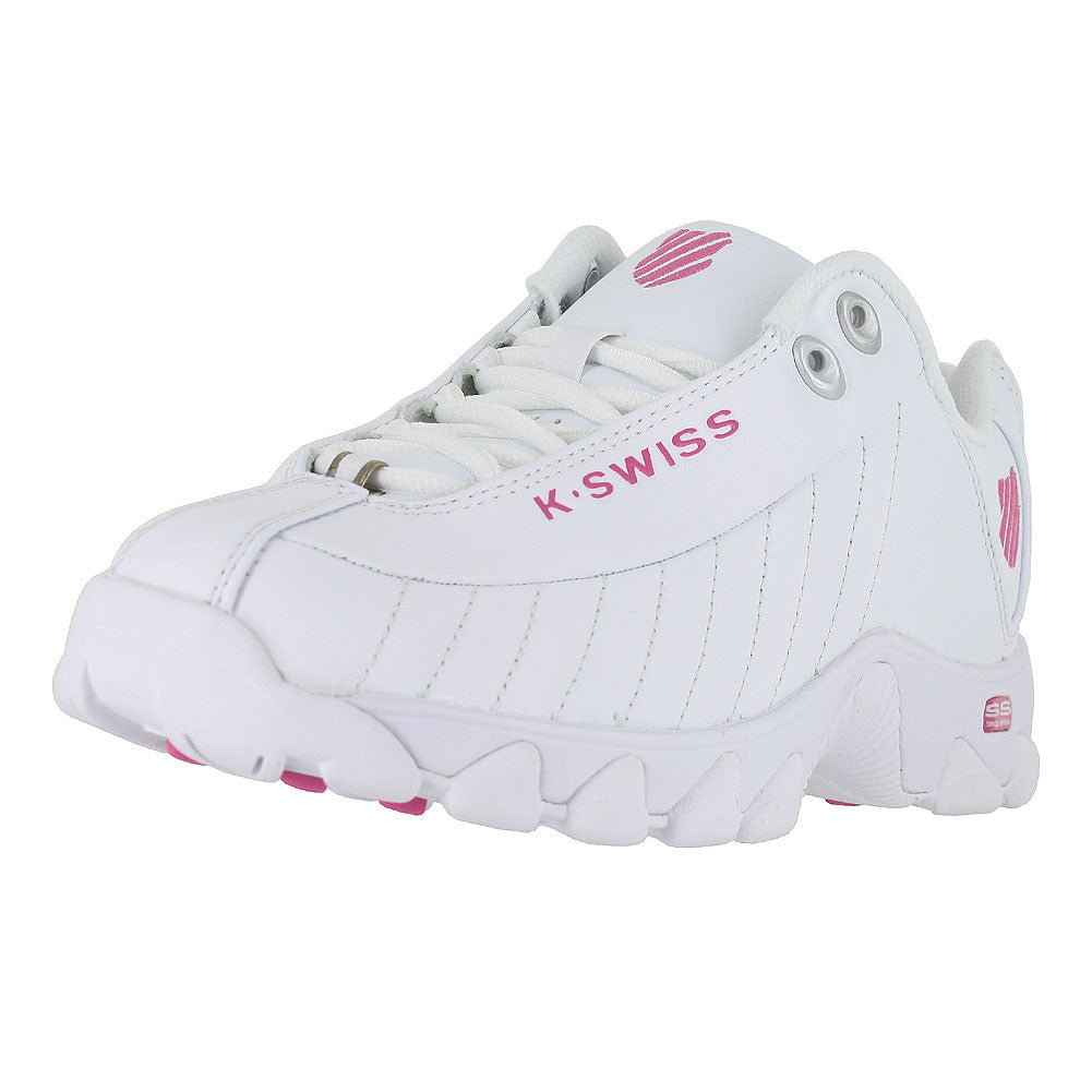 WOMENS ST329 WHITE SHOCKING PINK