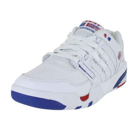 MENS SI-18 INTERNATIONAL WHITE CLASSIC BLUE RIBBON RED