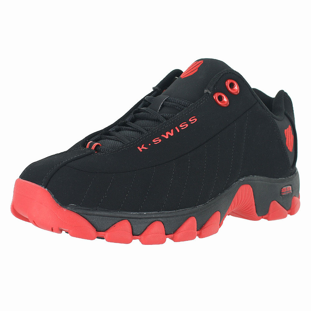 MENS ST329  BLACK FIERY RED
