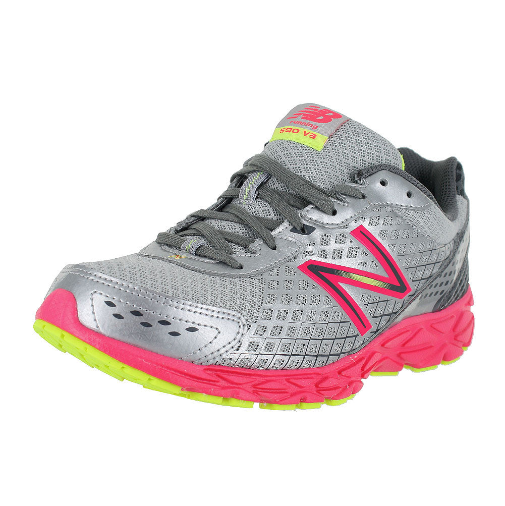 WOMENS W590GP3 D WIDE CGREY PINK