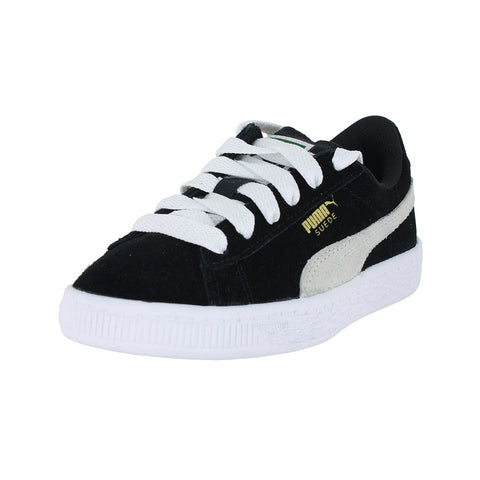 KIDS PUMA SUEDE PS BLACK WHITE