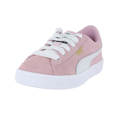 KIDS PUMA SUEDE PS PINK LADY WHITE