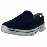 MENS GO WALK 3 WIDE NAVY GRAY