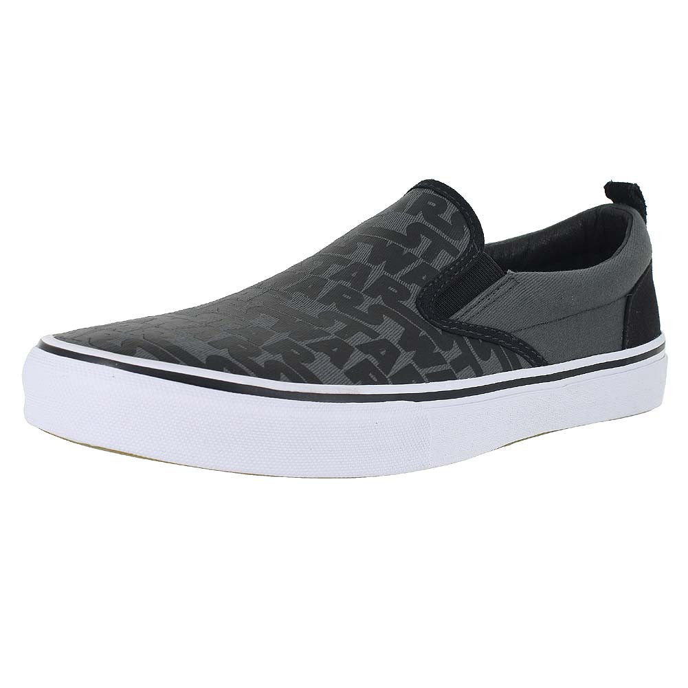 MENS STAR WARS SLIP ON GRAPHIC CHARCOAL BLACK