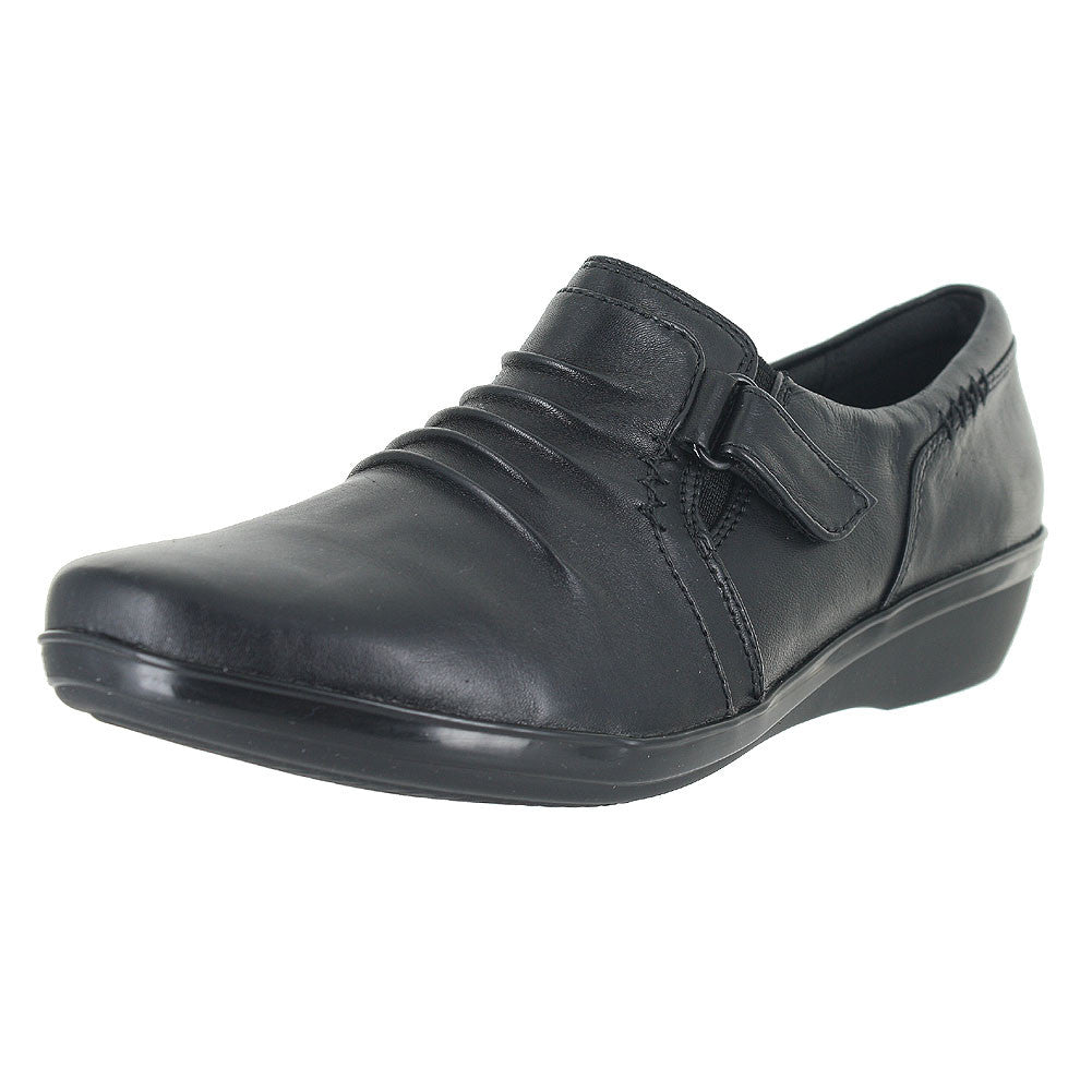 WOMENS EVERLAY CODA WIDE BLACK LEATHER