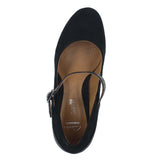 WOMENS BAVETTE CATHY WIDE BLACK COMBI SUEDE