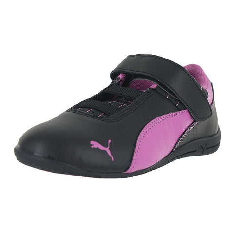 KIDS (K) DRIFT CAT 6 LEATHER BLACK MEADOW MAUVE