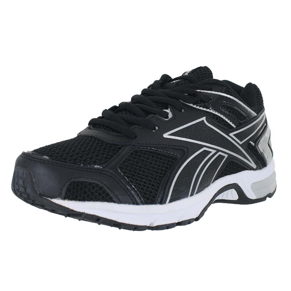MENS REEBOK QUICKCHASE 4E WIDE  BLACK PURE SILVER WHITE