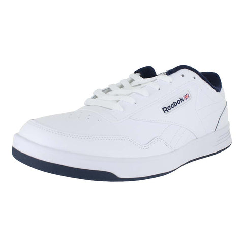 MENS REEBOK CLUB MEMT 4E WIDE WHITE COLLEGIATE NAVY