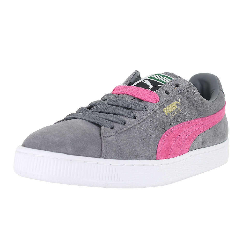 MENS PUMA SUEDE CLASSIC STEEL GRAY FLUO PINK