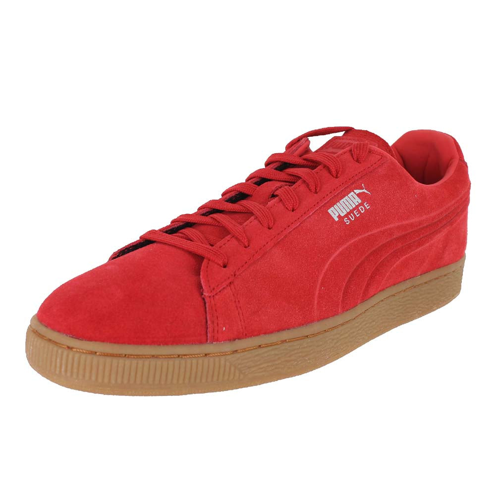 MENS PUMA SUEDE EMBOSS HIGH RISK RED GUM