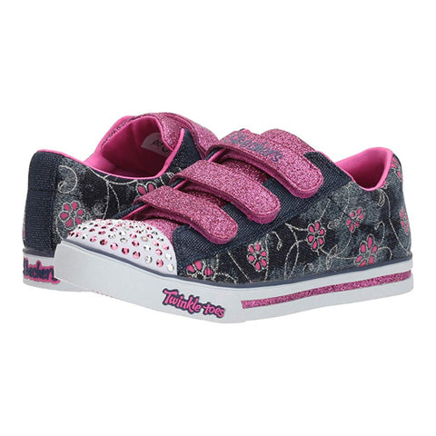 KIDS SPARKLE GLITZ DENIM DAISY DENIM HOT PINK