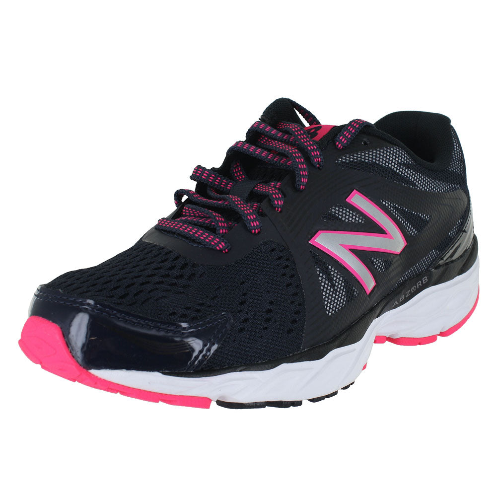 WOMENS W680LV4 D WIDE THUNDER BLACK ALPHA PINK