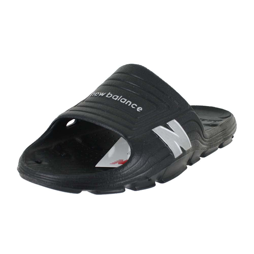 MENS MENS FLOAT SLIDE 4E BLACK SILVER