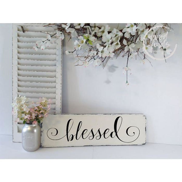 Blessed Rustic-Chic Sign | Handmade Wood Sign Wood Finds