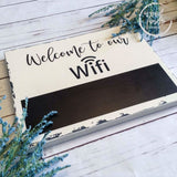 Chalkboard WiFi Wood Password Sign 10x12 Wood Finds