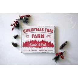Christmas Tree Farm Wood Sign Wall Decor Rustic Christmas Wall Decor Wood Finds