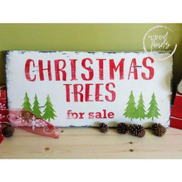 Christmas Trees for Sale Wood Sign | Handcrafted Wood Sign Wood Finds