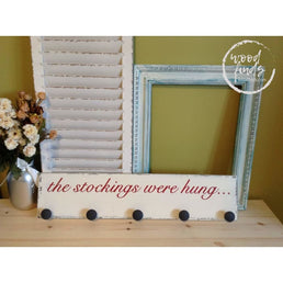 Classic Stocking Hanger with Edges Distressed Wood Finds