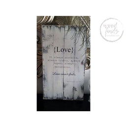Corinthians Love Verse Sign | Handcrafted Wood Sign Wood Finds