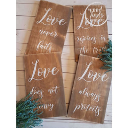 Corinthians Wedding Aisle Markers set of 10 - 10x16 Wood Finds