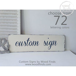 Custom Wood Sign (Single Board Style) | Handmade Wood Sign Wood Finds