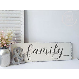 Family Farmhouse-Chic Sign | Handmade Wood Sign Wood Finds