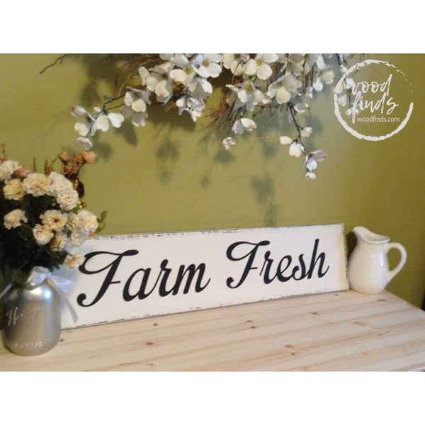 Farm Fresh Wood Sign Farmhouse Decor Wood Finds