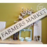 Farmers Market Wood Sign Country Home Farmhouse Decor Wood Finds