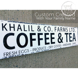 Farmhouse Coffee Sign Farmhouse Kitchen Decor Wood Finds