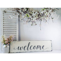 Farmhouse-Style Welcome Sign | Handcrafted Wood Sign Wood Finds