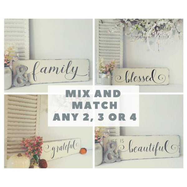 Farmhouse Style Wood Sign Mix & Match Bundle - Wood Finds WoodFinds