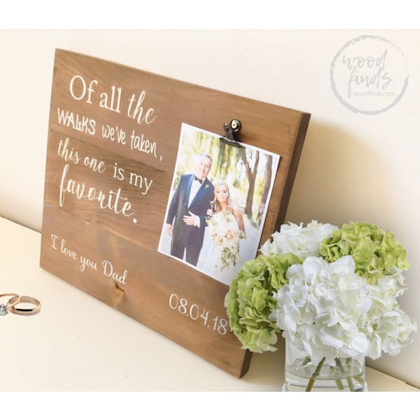 Father of the Bride Custom Photo Frame | Handcrafted Wood Sign WoodFinds
