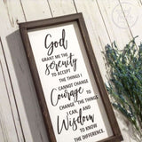 God Grant me the Serenity Wood Sign Wood Finds