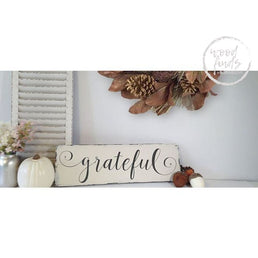 Grateful Thanksgiving Decor Sign | Handcrafted Wood Sign Wood Finds