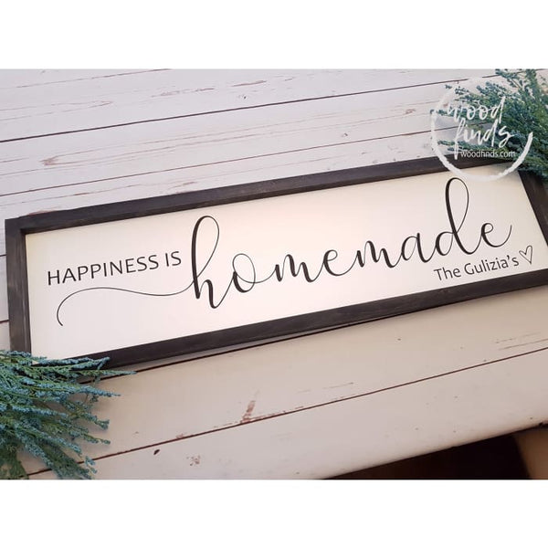 Happiness Is Homemade Framed Sign Wood Finds
