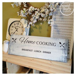 Home Cooking Decorative Sign | Vintage Kitchen Decor