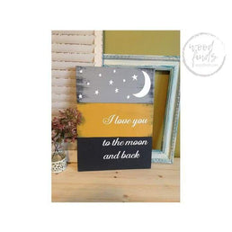 I love you to the moon and back Wood Sign Wood Finds