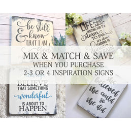 Inspirational Wood Sign Mix & Match Sets WoodFinds