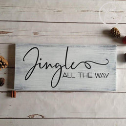 Jingle All the Way Christmas Farmhouse Wood Sign Wood Finds