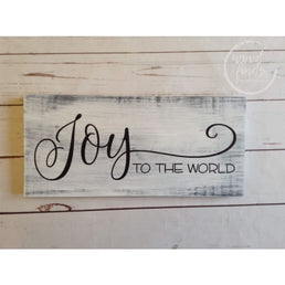 Joy To The World Sign, Farmhouse Christmas Decor, Rustic Holiday Signs, Distressed Wood Sign