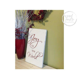Joy to the World Sign | Handcrafted Wood Sign Wood Finds