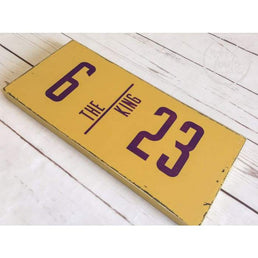 LA Lakers Decor Lebron James The King Jersey Number Wood Finds