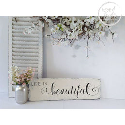Life Is Beautiful Rustic Sign | Handcrafted Wood Sign Wood Finds