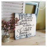 Life Isnt About Waiting Sign | Handcrafted Wood Sign 12x12 Wood Finds