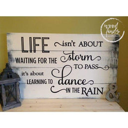 Life Isnt About Waiting Sign | Handcrafted Wood Sign 18x24 Wood Finds