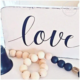 Love Distressed Sign | Handcrafted Wood Sign Wood Finds