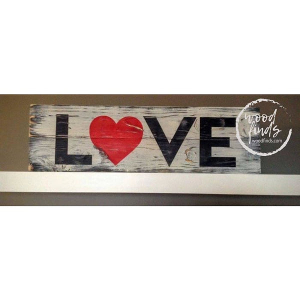 LOVE Wood Sign - Valentines Wood Sign WoodFinds